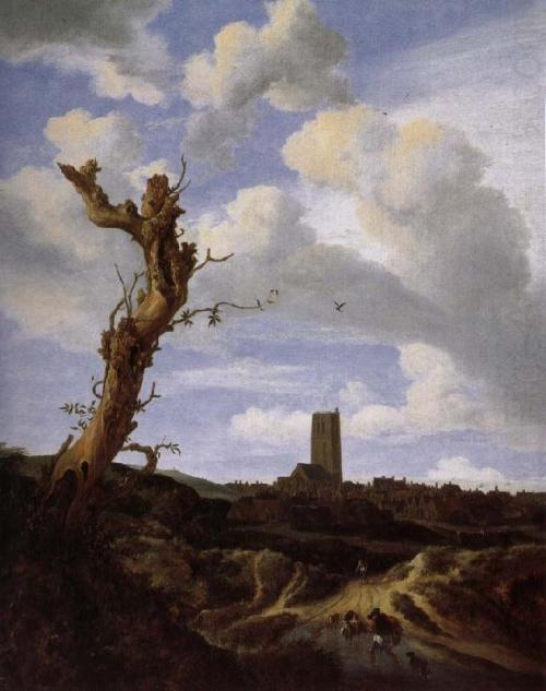 View of Egmond aan Zee with a Blasted Elm