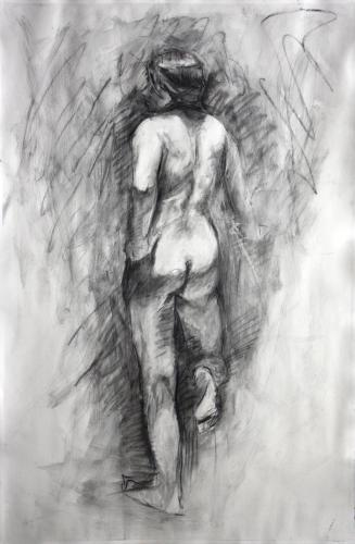 Untitled - Charcoal on paper.
