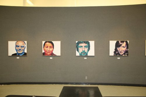 Portraits displayed at Sidney Larson Gallery.