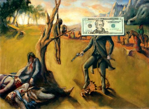Ignoble Currency - Oil on wood.