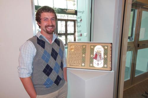 Illuminated Manuscript on display at Fontbonne University.