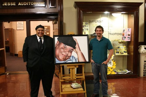 Neal E. Boyd and me before his concert at Jesse Hall, University of Missouri, Columbia.