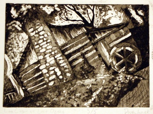Log Cabin at Lake Ozark - Intaglio