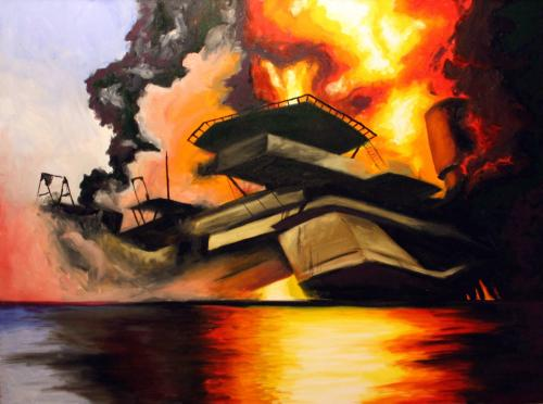 BP Oil Spill - Oil on canvas