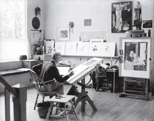 Norman Rockwell in his studio - Introvert