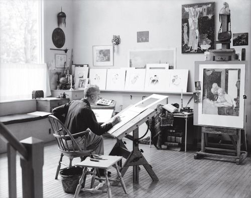 Norman Rockwell in his studio - Introvert