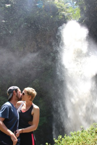 Us at the waterfall